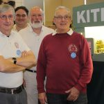 Kitedale's first outing - Bognor. Ray Hodson, layout owner, on right.