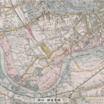 "Davies' map of 1844 showing the ""Proposed Extension"""